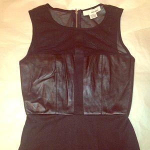 Sans Souci black dress Faux leather